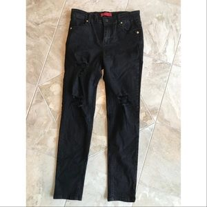 "Black distressed nasty gal jeans 26"" signature 8"